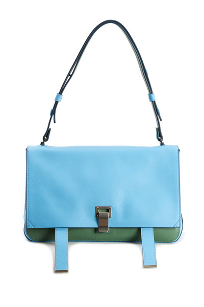 Proenza Schouler - PS Blue & Green Leather Double Side Courier