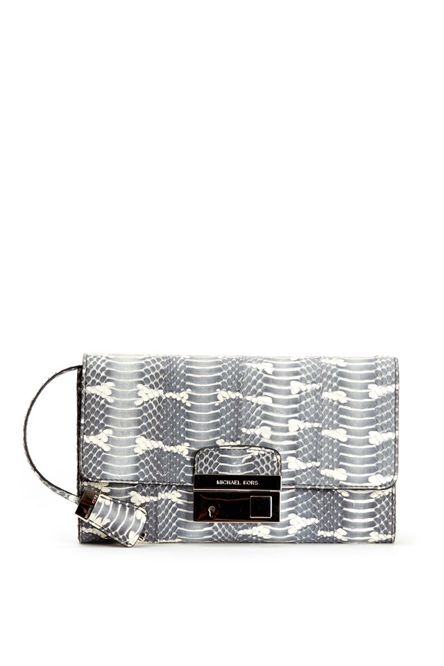 Gia Gray & Natural Snakeskin Clutch