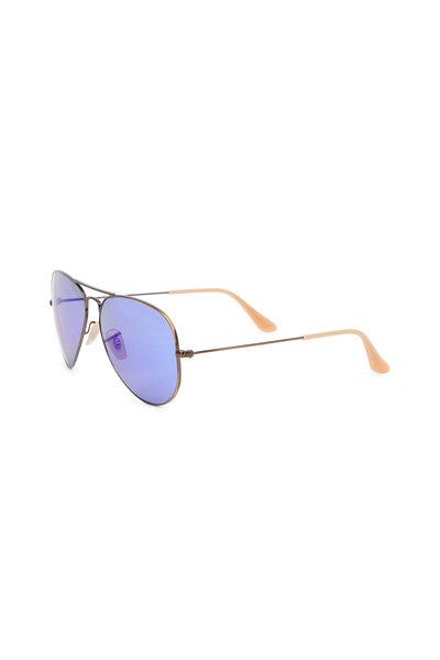 Ray Ban - Aviator Brushed Bronze Sunglasses