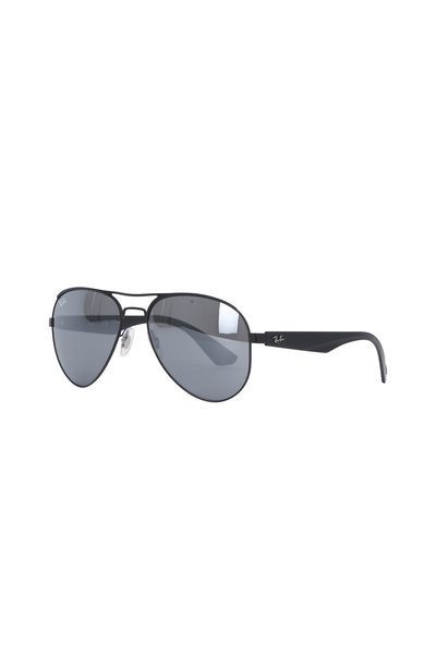 Ray Ban - Highstreet Silver Mirror Aviator Sunglasses