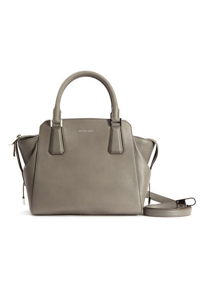 Michael Kors Collection - Miranda Grey Leather Trapeze Satchel