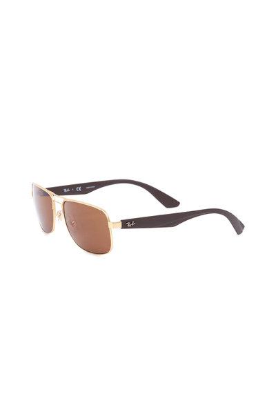 Ray Ban - Highstreet Matte Gold Sunglasses