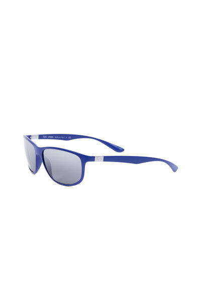 Ray Ban - Tech Matte Blue Polarized Sunglasses