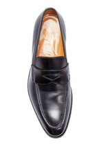 Gravati - Black Leather Penny Loafer