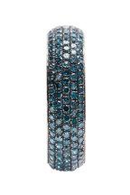 Loren Jewels - White Gold Pavé Blue Diamond Band