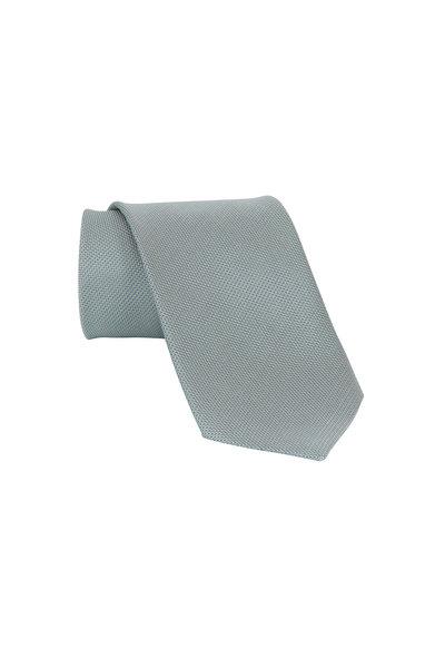 Ermenegildo Zegna - Green Solid Silk Necktie