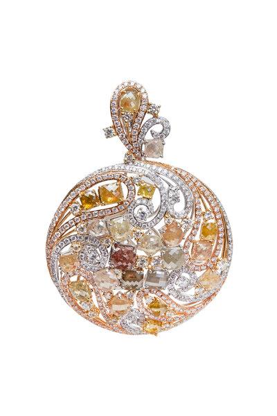 Loren Jewels - Rose Gold Fancy Diamond Pendant