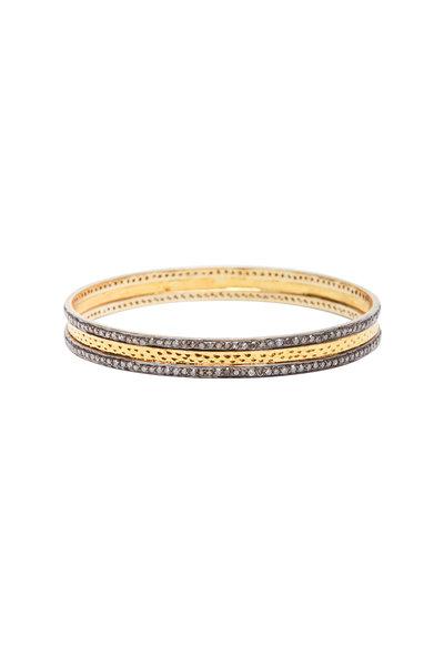 Loren Jewels - 14K Yellow Gold & Silver Diamond Bangle