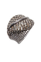 Loren Jewels - White Gold Diamond Leaf Ring