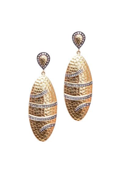 Loren Jewels - Gold & Silver Diamond Dangle Earrings