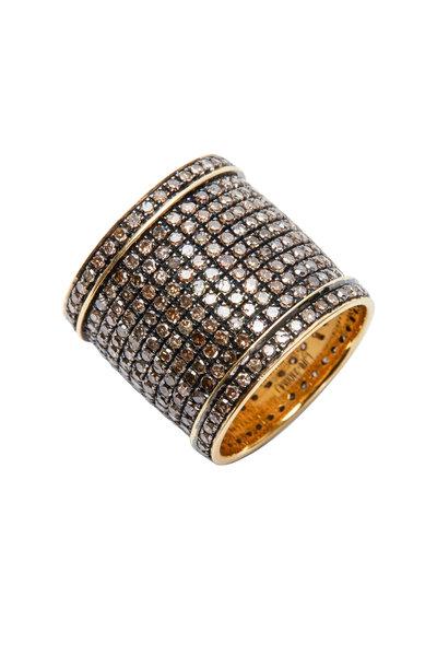 Loren Jewels - Sterling Silver Champagne Diamond Band