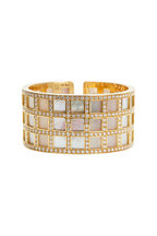 Kathleen Dughi - Madre Gold Mother Of Pearl Diamond Cuff Bracelet