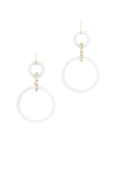 Emily & Ashley - Gold Mother Of Pearl Moonstone Drop Earrings