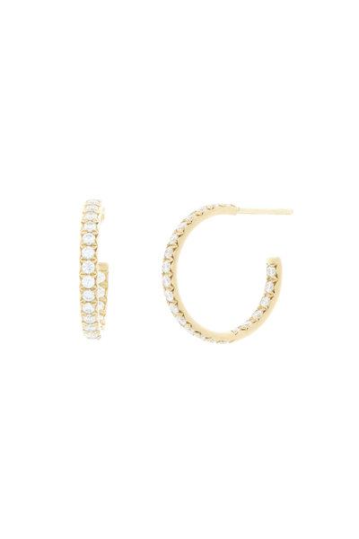 Caroline Ellen - 18K Yellow Gold Diamond Hoops