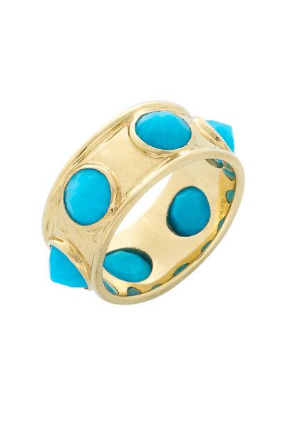 Emily & Ashley - Yellow Gold Turquoise Gemstone Ring