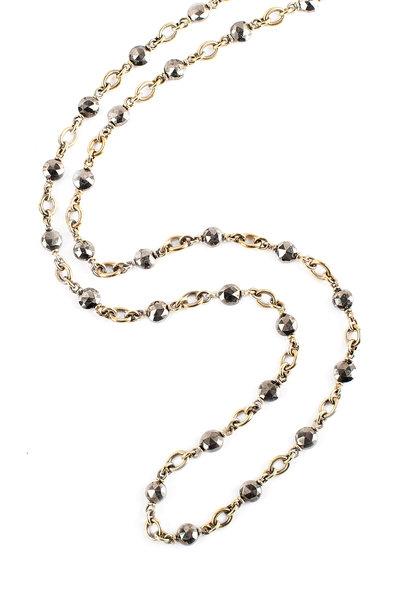 Sylva & Cie - 18K Oxidized Gold Necklace