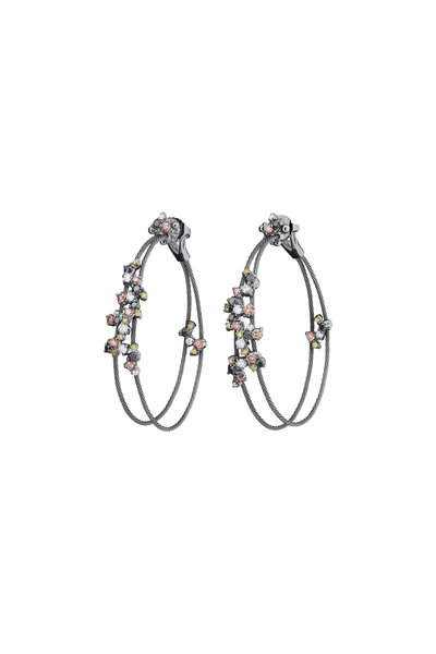 Paul Morelli - Gold Confetti Diamond Double Wire Earrings