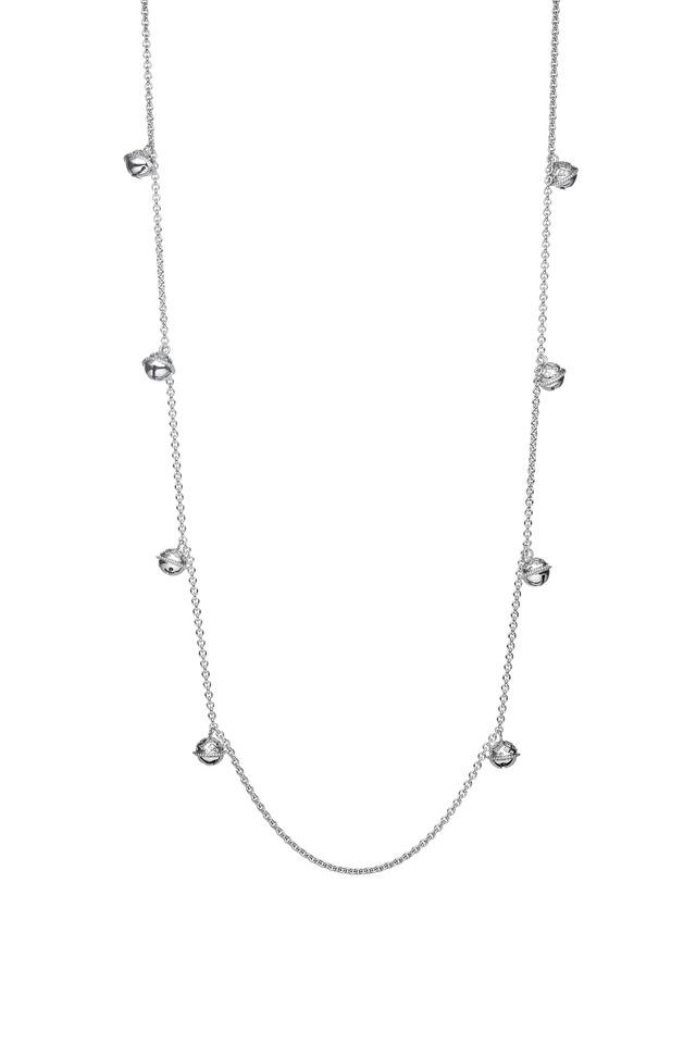 Meditation Bell Sterling Silver Jingle Necklace