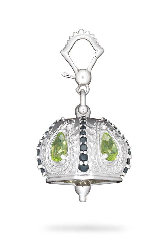 Meditation Bell Sterling Silver Peridot Pendant