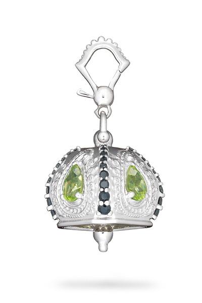 Paul Morelli - Meditation Bell Sterling Silver Peridot Pendant
