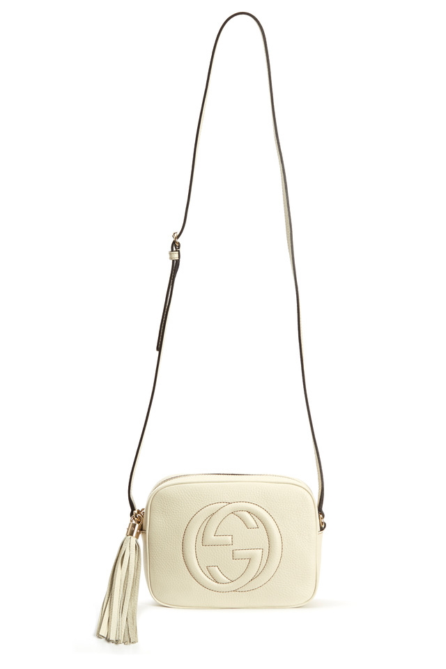 Soho White Leather Crossbody Handbag
