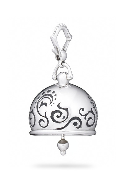 Paul Morelli - Meditation Bell Sterling Silver Tattoo Pendant
