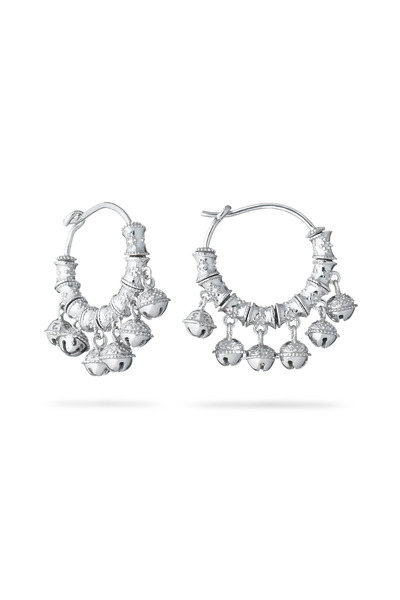 Paul Morelli - Tiny Bell Sterling Silver Hoop Earrings