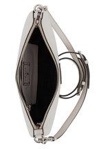 Prada - Chalk Vitello Leather Crossbody Bag