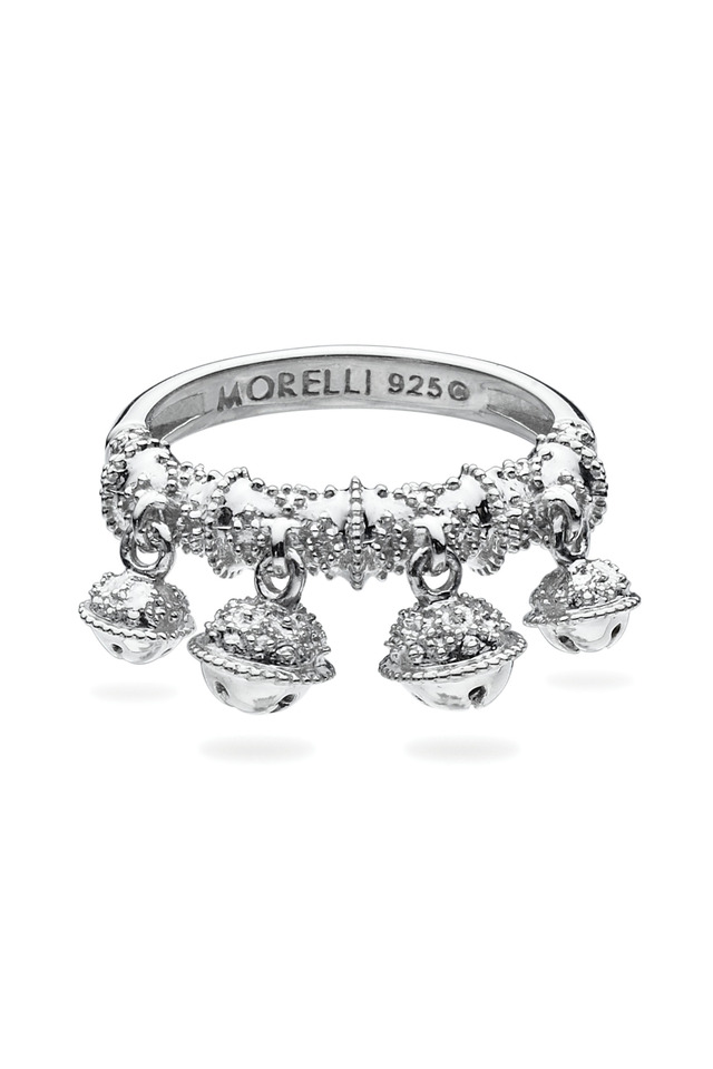 Sterling Silver Four Bell Cluster Ring