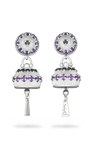 Paul Morelli - Meditation Bell Sterling Silver Amethyst Earrings