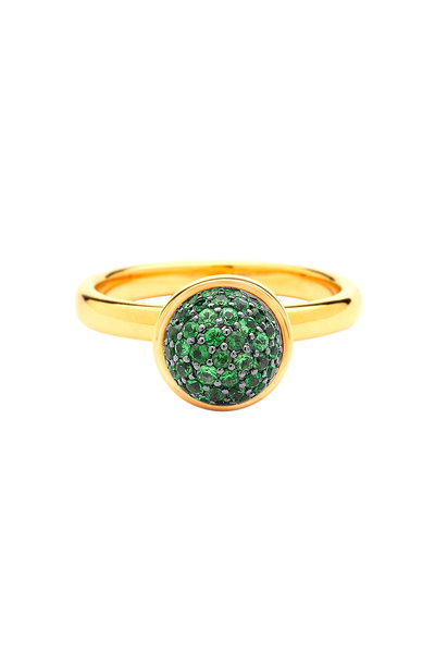 Syna - 18K Yellow Gold Tsavorite Stack Ring