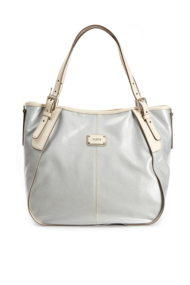 G-Line Ice Coated Canvas Leather Trim Handbag