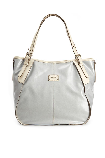 Tod's - G-Line Ice Coated Canvas Leather Trim Handbag