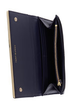 Tory Burch - Robinson Navy Blue Saffiano Leather Flap Wallet