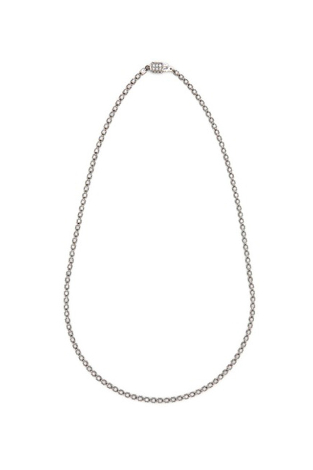 White Gold Four Sided Diamond Necklace