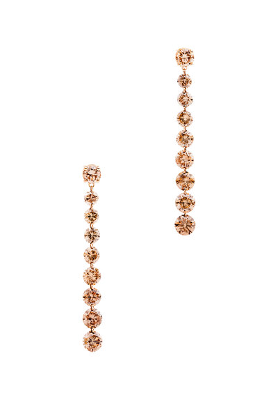 Paul Morelli - Pink Gold Brown Diamond Drop Earrings