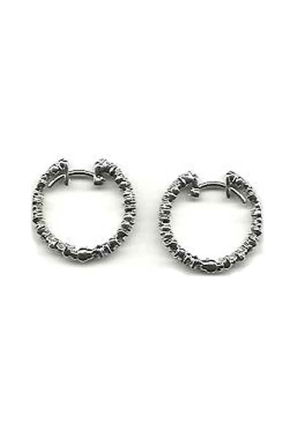Paul Morelli White Gold Diamond Confetti Hoop Earrings