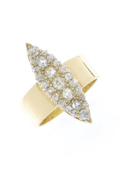 Renee Lewis - Gold Antique Diamond Marquise Ring