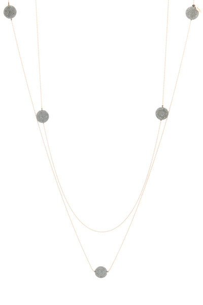 Tulah Jem - Yellow Gold White Diamond Bead Necklace