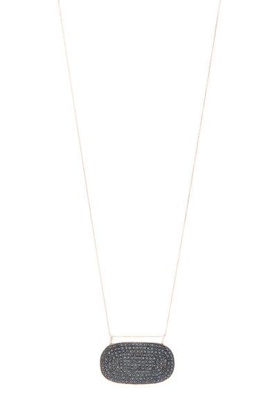 Tulah Jem - Gold Black Diamond Necklace