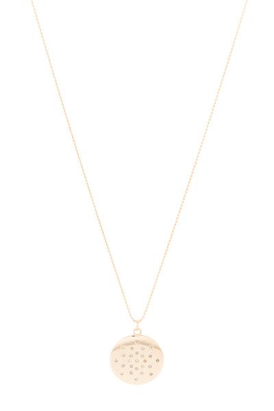 Tulah Jem - Rose Gold Scattered Diamond Mantra Necklace