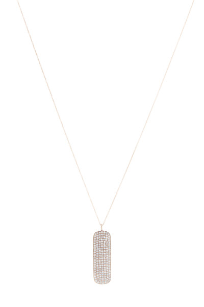 Tulah Jem - Rose Gold White Diamond Bar Necklace