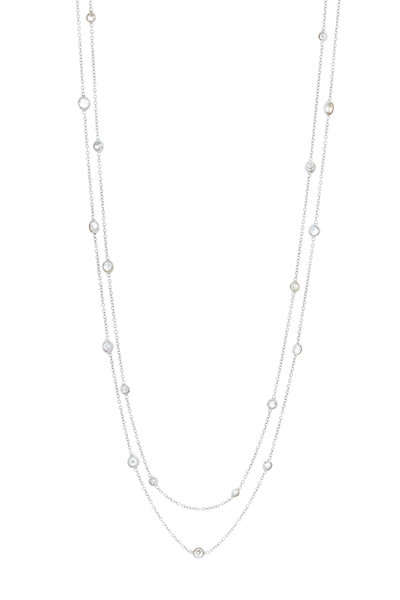 Renee Lewis - White Gold Two Chain Diamond Necklace