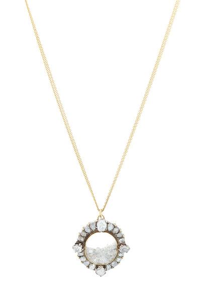 Renee Lewis - Yellow Gold Antique Diamond Shake Necklace
