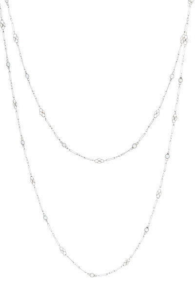 Renee Lewis - Platinum Antique Diamond Chain Necklace