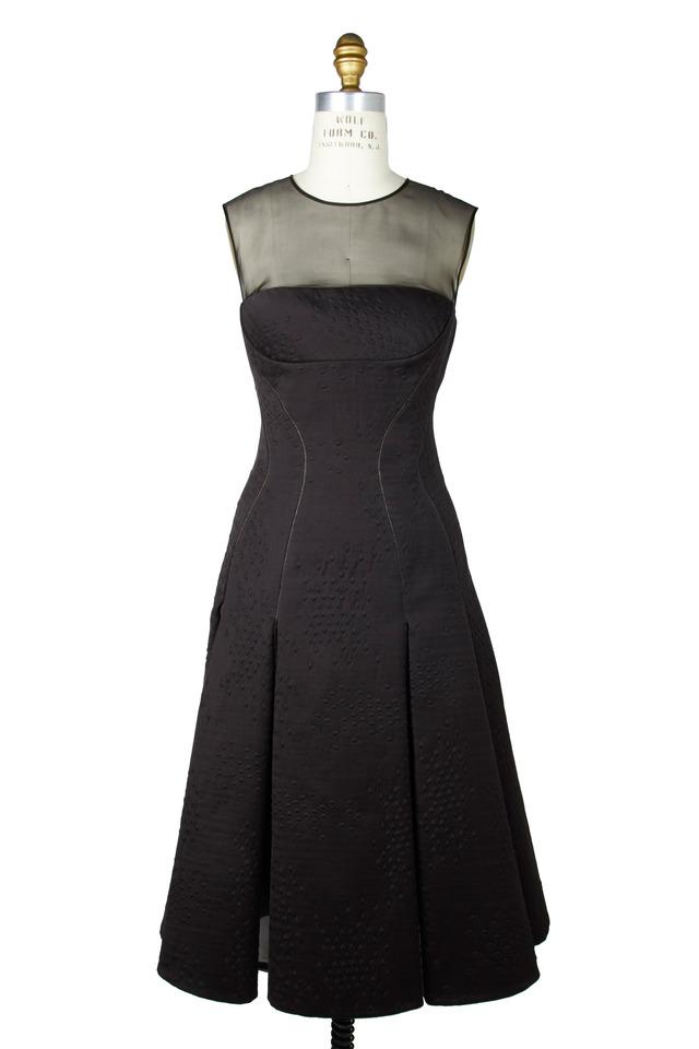 Black Jacquard Dress