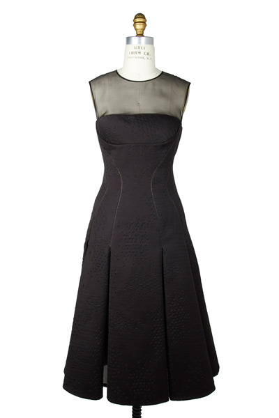 J. Mendel - Black Jacquard Dress