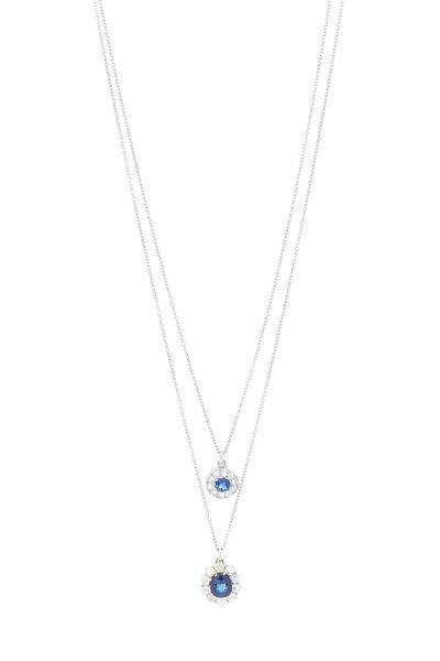 Renee Lewis - White Gold Sapphire & Antique Diamond Necklace