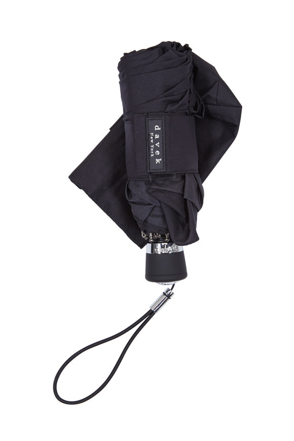 Davek  Black Nylon Mini Umbrella