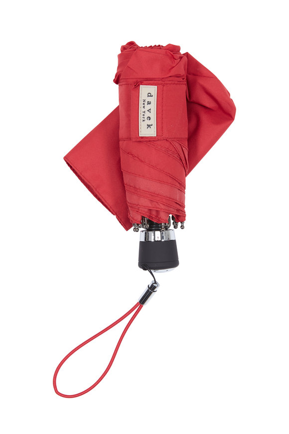 Davek  Red Nylon Mini Umbrella